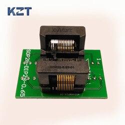 SSOP20 TSSOP20 do DIP20 gniazdo programowania IC Test adapter gniazda boisko 0.65mm szerokości korpusu IC 4.4mm 173mil OTS-28-0.65-01