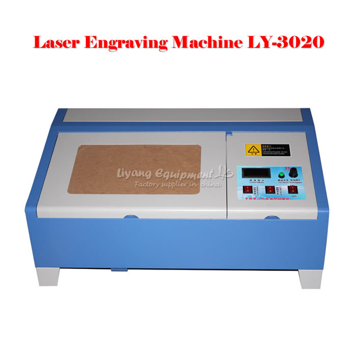 New Version 40W LY 3020 CO2 Digital laser engraving cutting machine 40W BRAND NEW with digital function ly 3020 co2 laser engraving machine laser cutting machine with usb connection