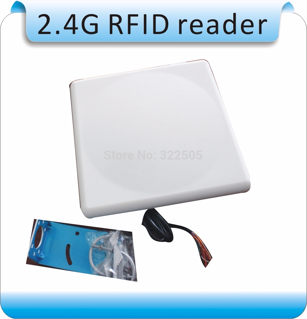 2.4G RFID Integrated Long Range Reader Free Tags +10 Pcs Card, Longset 0-50M  Range Reader For  Wiegand26  /RS232/RS485