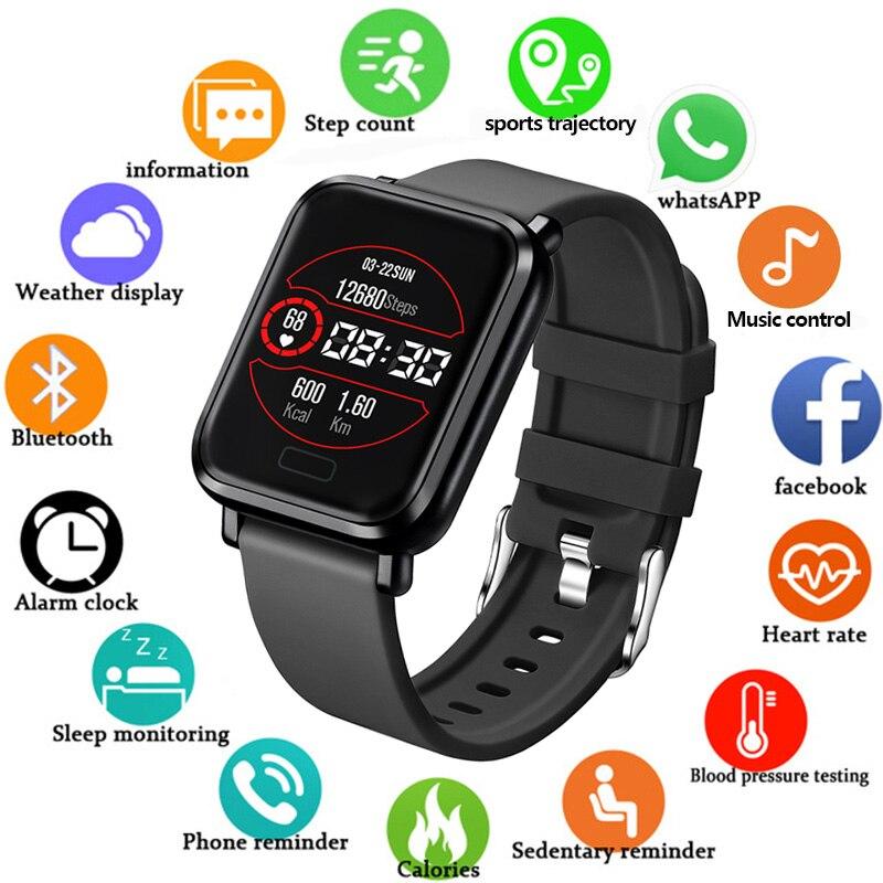 2019 IP68 Waterproof Smart Watch Men Women Heart Rate Monitoring Blood Pressure Measurement Watch Smartwatch Support IOS Android