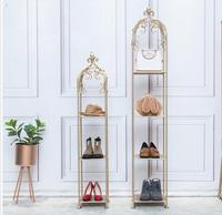 Tieyi Золотая напольная витрина, многоэтажная рамка для обуви, витрина магазина