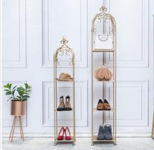 Tieyi Golden Floor Display Frame, Multi-storey Shoe Clothing Shop Window Frame