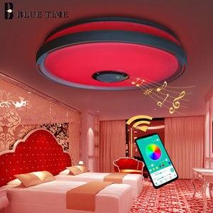 Image 3 - Müzik LED tavan Işıkları RGB APP kontrolü tavan lambası yatak odası 36W oturma odası ışık lampara de techo tavan ışık