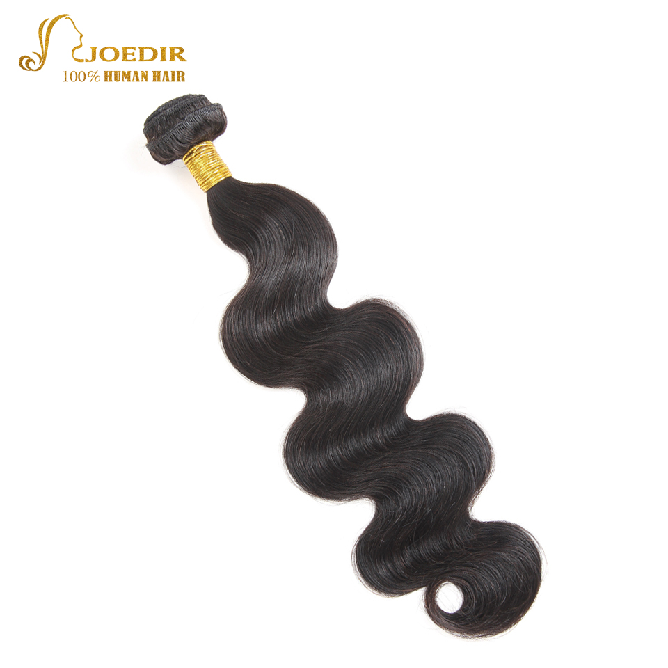 Joedir Raw Indian Hair Extension Single Bundle Body Wave Indian Human Hair Bundles Natural Black Wet And Wavy Human Hair Bundles