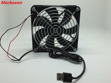 TV Box Wireless Router Cooling Fan DC 5V USB Power 120mm 120x120x25mm 12CM Silent Quiet Cooler W/ Screws and Grill Guard cooler