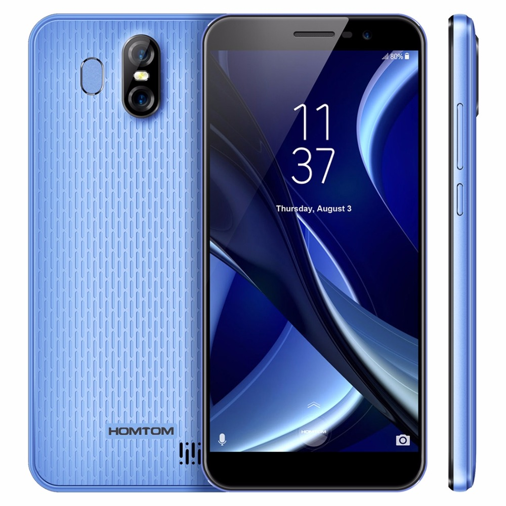 HOMTOM S16 Mobile Phone 5.5 Inch 18:9 2GB +16GB Rear Camera 13MP+Front Camera 8MP MTK6580 Quad-Core 3000mAh Battery Smartphone