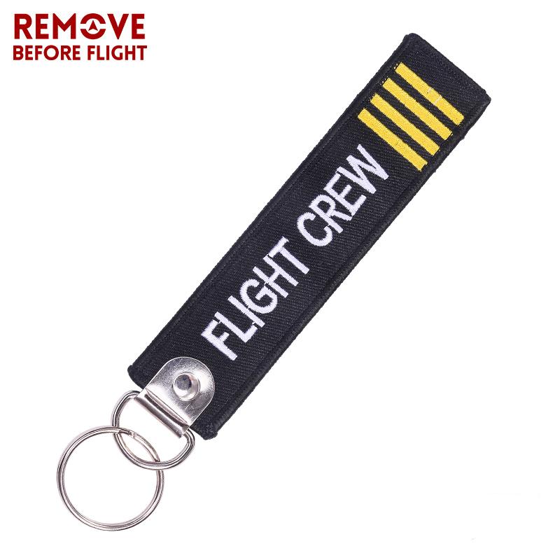 50PCS Remove Before Flight Crew Keychain Keyrings for Motorcycle Scooters FOB Aviation Gifts Promotional Embroidery Luggage Tag