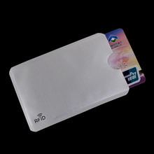 20pcs PET Credit Card Holder Aluminium Anti Rfid Wallet Bank Card Case Blocking Reader Lock Bank Card ID Holder Protection(China)