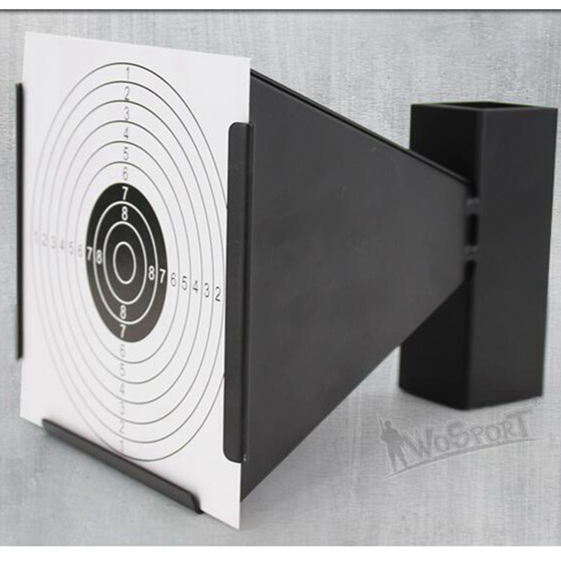 14cm Funnel Air Rifle/Airsoft Shooting Target Holder Pellet Trap With 100pcs Papers