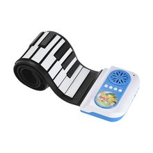 49 Keys Hand Roll Up PianoSilicon Electronic Keyboard with Built-in Speaker Teaching Function for Children Kids(China)