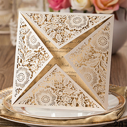1sets design rustic gold beige wedding invitations laser cut invitation cards with insert paper blank card.jpg 250x250