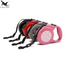 TAILUP3M Pet Dog Retractable Leash For Medium Dog 8M Nylon Solid Dogs Vest Walking Leads Rope 40KG Round Leads Rope CL120R