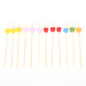 Image 5 - 100 PC Heart ไม้ไผ่อาหารบุฟเฟ่ต์ Cupcake ผลไม้ Fork PARTY เค้กขนมเค้กสลัดผัก Sticks ค็อกเทลไม้จิ้มฟัน Skewer 12 ซม.