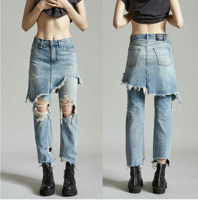 Aliexpress.com : Buy Fashion Ladies Cropped Flare Distressed Jeans ...