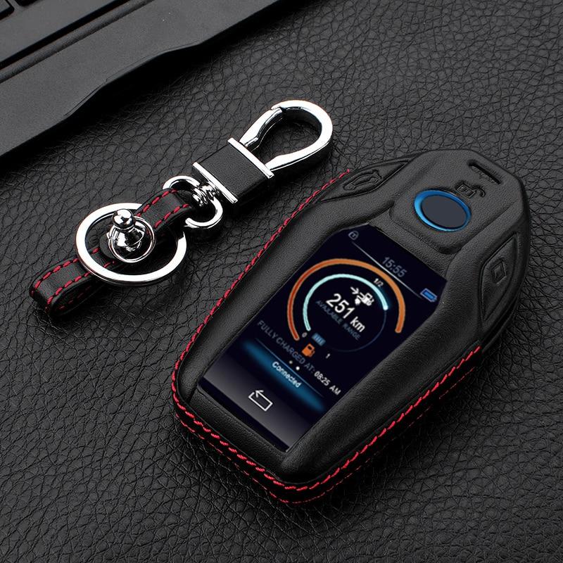 For 2018 2017 2016 BMW 7 Series G11 G12 730li 740li 750li LCD Display Leather CAR-KEY-SHAPE Car Key Case Cover