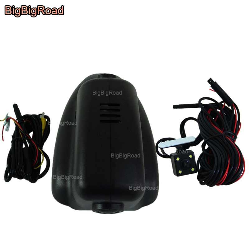 BigBigRoad Car wifi DVR Video Recorder Dash Cam Dual Lens Cameras For Jaguar XJ XF 2005 2008 2009 2010 2011 2012 2013 2014 2015