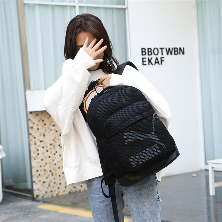 Sports & Entertainment Bright New Arrival Puma Originals Large Capacity Grid Backpack Unisex Big Backpacks Black And White Sports Bags Camping & Hiking