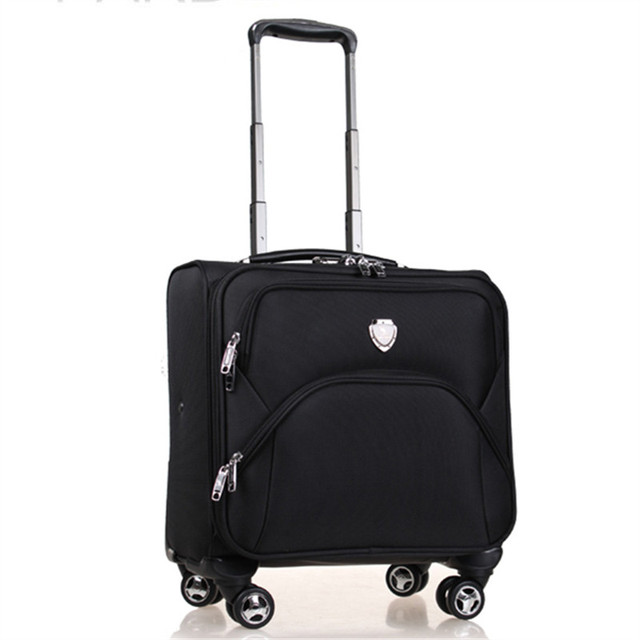 Phalanger horizontal 16 small trolley luggage travel bag luggage universal wheels luggage password box,men and women commercial