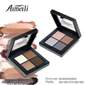 4 Colors Makeup Eyeshadow Palette Tactility Shimmer Matte Make Up Eye Shadow Cosmetic Long-lasting Maquiagem