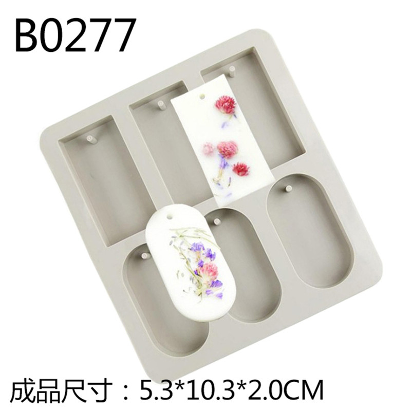 Silicone Soap Mold 6 Cavity Rectangle and Oval Aromatherapy Wax Mould DIY Handmade Soap Making Tools in Soap Molds from Home Garden