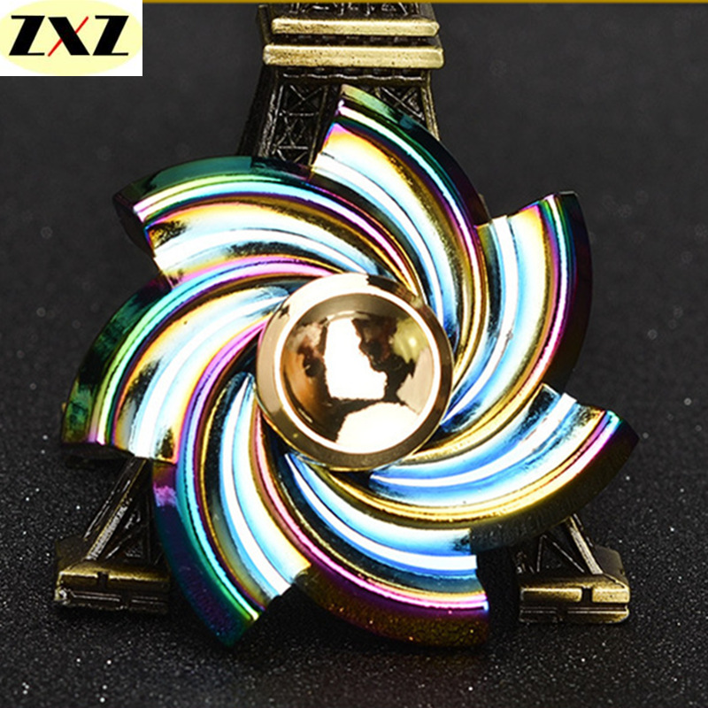 New Colorful rainbow Spinner stress Fidget spinner metal rotary EDC spinner and autism ADHD Focus Stress