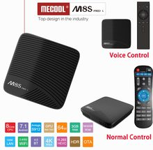 MECOOL M8S PRO L 4 K TV BOX z systemem Android 7.1 procesor Amlogic S912 3D smart TV HD BOX 3G RAM zestaw Bluetooth- top Box sterowanie głosem odtwarzacz multimedialny(China)
