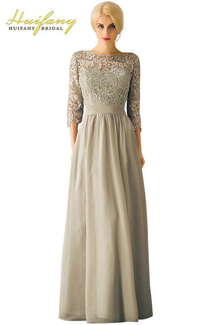 Sage Green Mother Of The Groom Dress For Wedding Bateau Neck Low Back Lace Half Sleeves