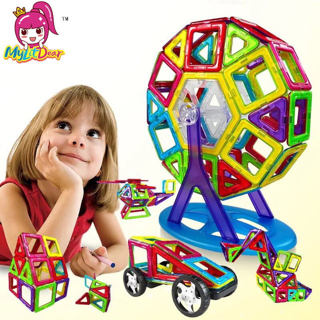 Mini/Big Size 175pcs Magnetic Designer Building Blocks Model & Building Toys Brick Enlighten Bricks Magnetic Toys for Children