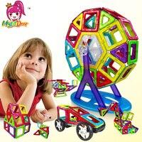 Mini/Duży Rozmiar 175 sztuk Projektant Magnetyczny Budulcem Modelu i Budowlane Zabawki Cegły Oświecić Zabawki Magnetyczne dla dzieci