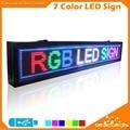 RGB 16X128 pixel Rolagem Programável Rainbow LED Sinal de Exibição de Mensagem Para O Negócio