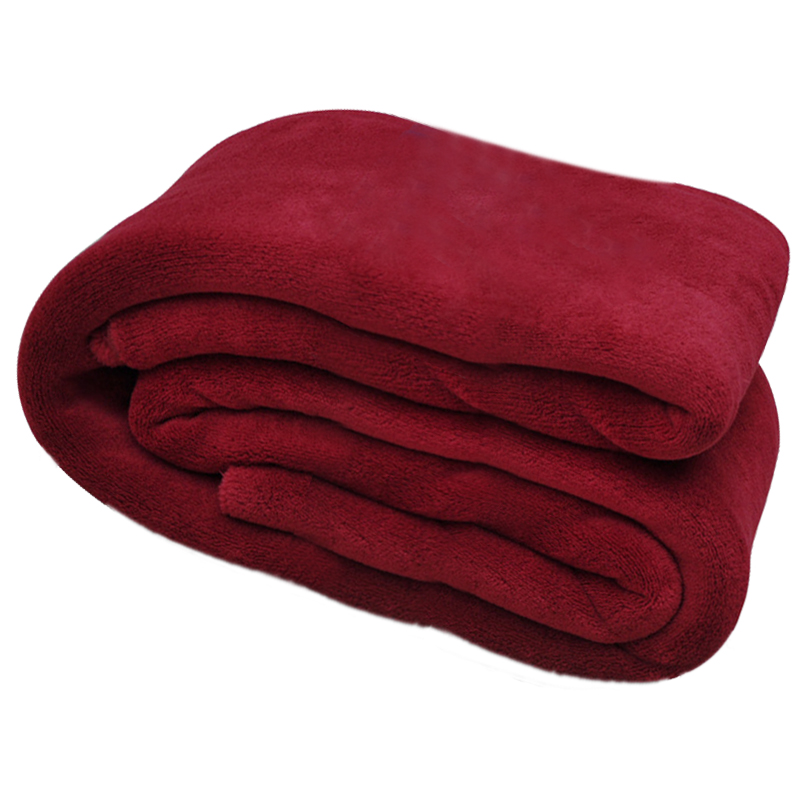 super soft warm rug luxury plush fleece throw blanket suitable for chair or bed machine red 180 x 200 cm