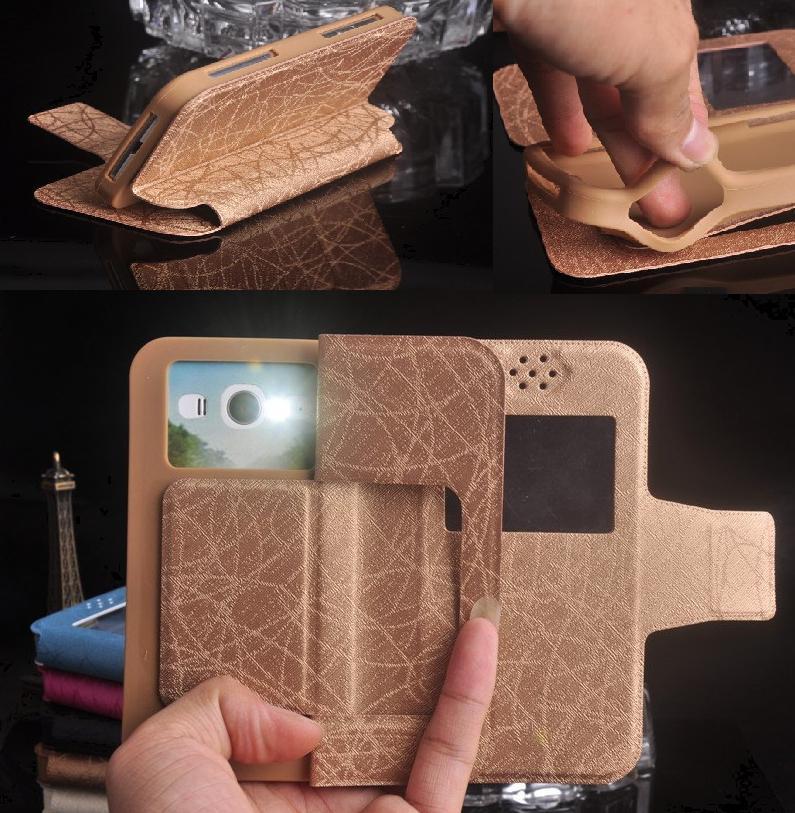 Bqs bq 5070 magia case, Cuero Del Tirón de lujo Cajas Del Teléfono de La Cubiert