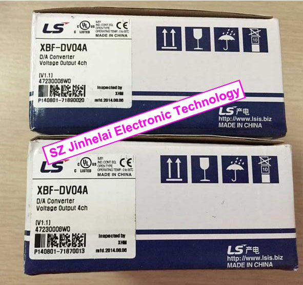 100% New and original  XBF-DV04A  LS(LG)  PLC   4 channel analog output (voltage) 100% new and original g6i d22a ls lg plc input module