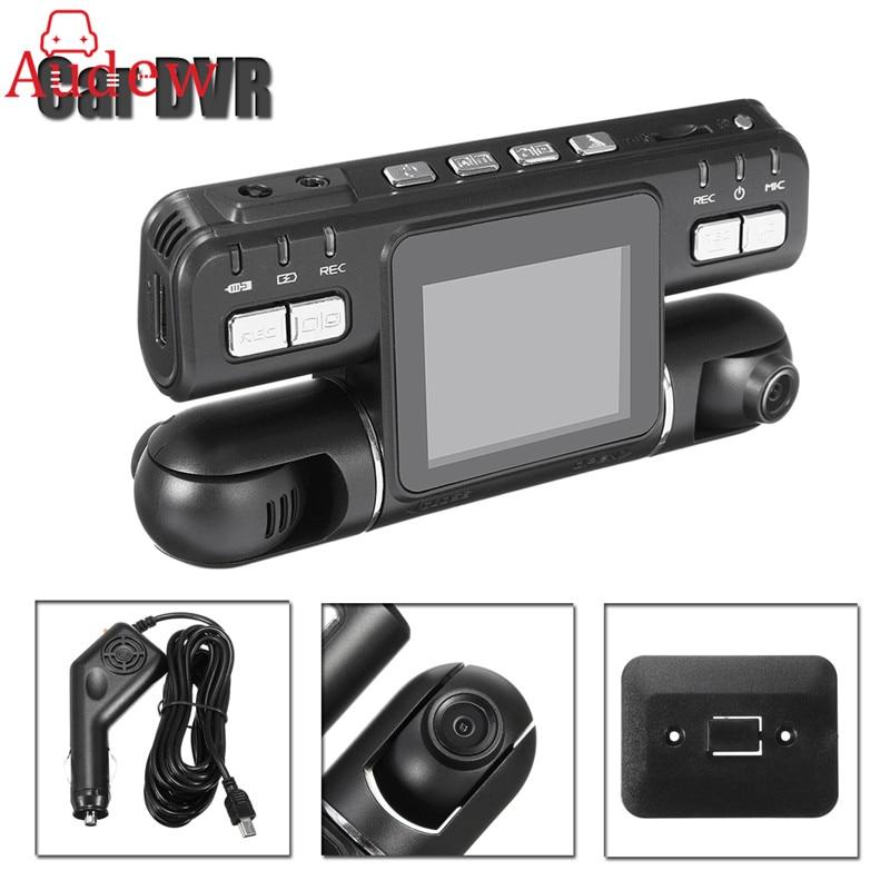 Dual Lens Full HD 1080P Car DVR Camera G-Sensor Dashcam 360 Wide Angle Recorder Support GPS Logger Dash Cam Microphone Speaker
