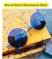 Bertha Retro Round Steampunk Stlye Circle Metal Frame Sunglasses 886