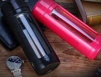 5 Colors 320ml Grass Bottle With Tea Infuser Portable Leak Proof Bike Sports Unbreakable Water Bottle