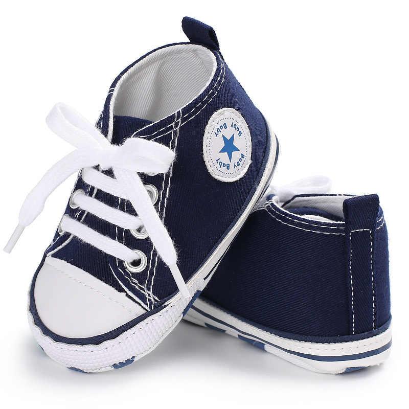 43bbe83b ... Nuevos zapatos deportivos de lona para bebé para niñas y niños, zapatos  para recién nacidos ...