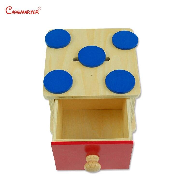 Éducatifs Montessori Math Jouets Enfants Ronde Avec Entrée Boîte Tiroir Bois outils pédagogiques jouets en bois Montessori Préscolaire Bébé LT015