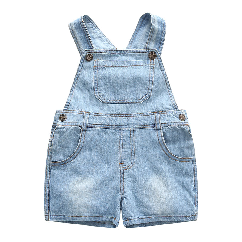 New 2019 summer fashion children baby kids cute casual overalls   shorts   brand denim jeans jumpsuits girls   shorts   high quality