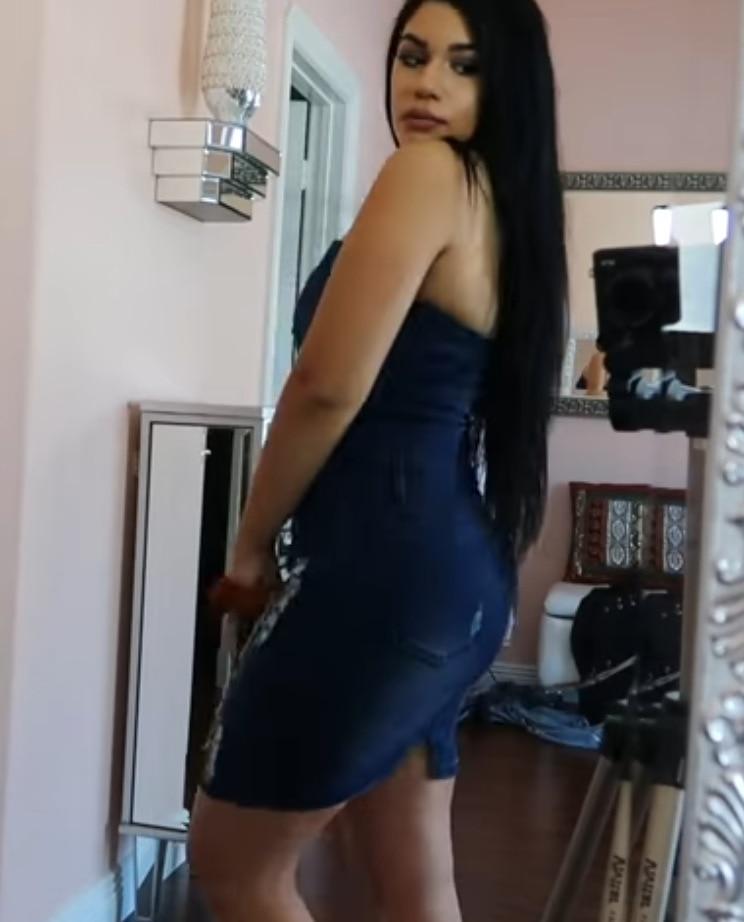 2018 Delgado arnés vaquero bolso cadera vestido Sexy mujer azul Delgado Jeans vestidos de una sola pieza vaquero vintage - 4