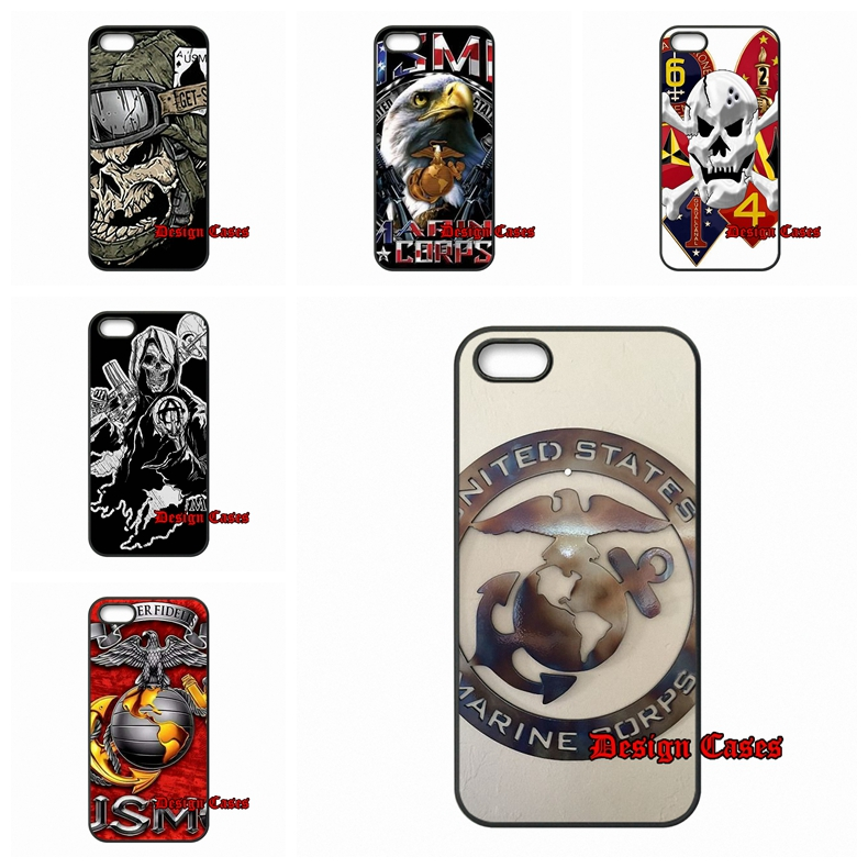 Hard PC Skin accessories US Marine Corps USMC logo For Xiaomi Mi3 Mi4 Redmi Note 2 Samsung A3 A5 A8 J2 J3 S3 S4 S5 mini