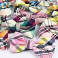 2016 barato hombre algodón mariage boda pajarita masculina a cuadros bowtie papillon corbatas de alta calidad de la vendimia
