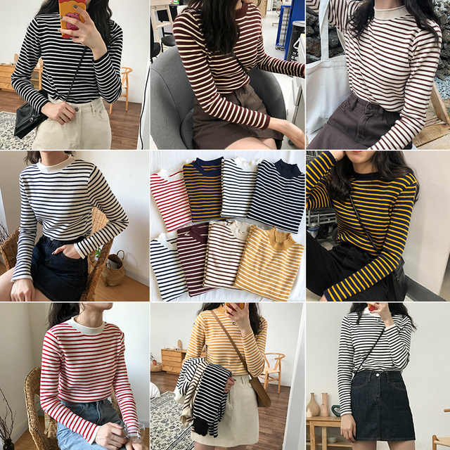 caf6920fc5b autumn womens sweaters 2019 winter harajuku korean style women clothes  fashion personality retro striped knitted sweater women