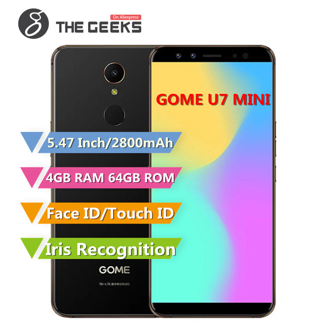 GOME U7 MINI 4GB RAM 64GB ROM Helio X20 MTK6797M 2.0GHz Deca Core 5.47 Inch Incell Full Screen Android 7.1 4G LTE Smartphone