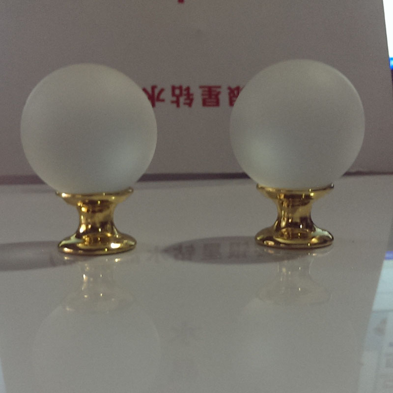 2PCS 30mm Crystal Glass Ball Shaped Cabinet Door Knobs