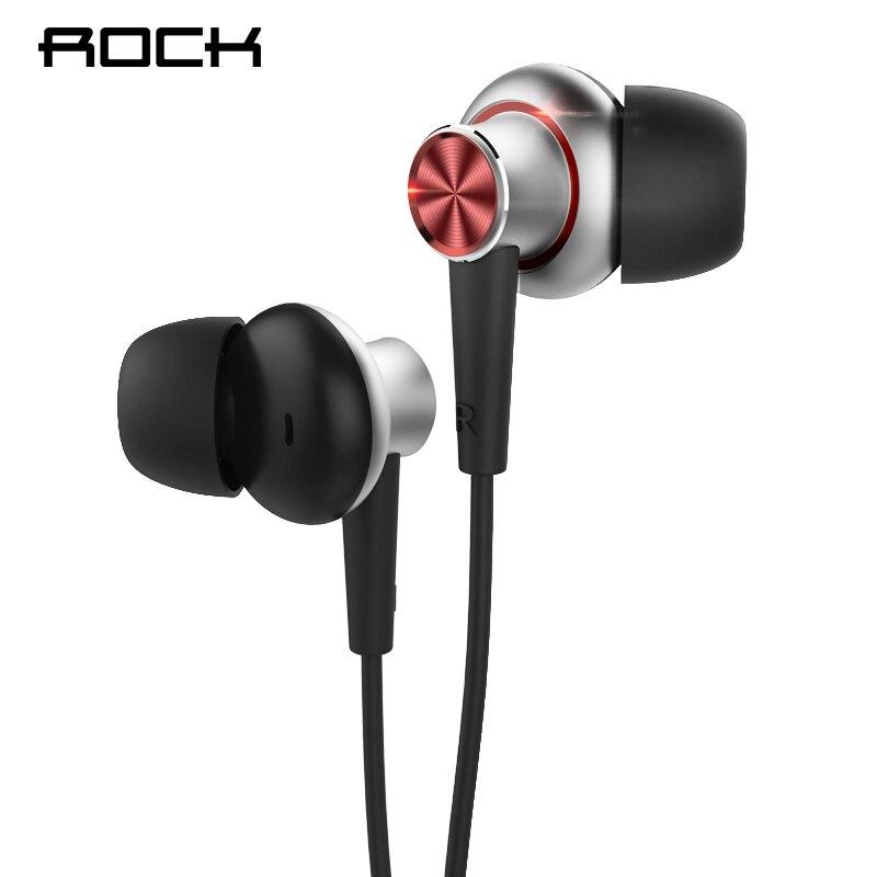 Rock Y5 Stéréo Écouteur 3.5mm In-Ear Eerphones Sueur-preuve Écouteurs Basse Casque avec Microphone pour iPhone Samsung Xiaomi