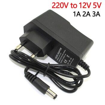 цена на AC-DC 110V-220V DC 12V TO 5V Power Adapter Supply 12V 5V 1A 2A 3A Switching Charge power dadpter LED Drive 5.5MM For led strip