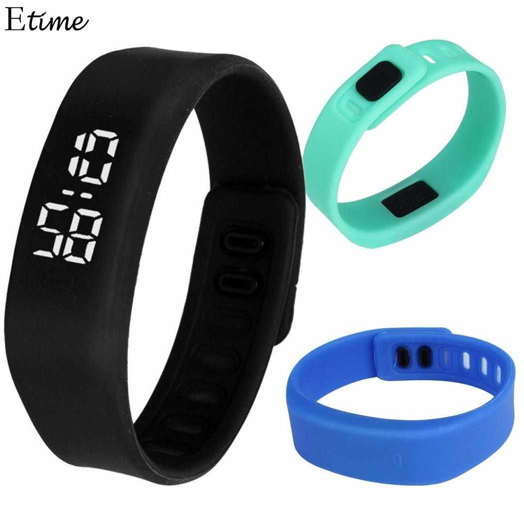 8a4e41682d34 Reloj de pulsera Digital LED reloj de pulsera para deportes al aire libre  pulsera eléctrica para