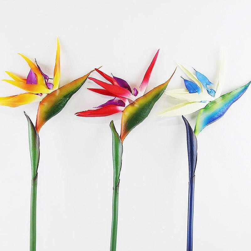 2pcs Artificial Crane Orchids Bird of Paradise Flower Arrangement Home Wedding Garden Party Decoration DIY