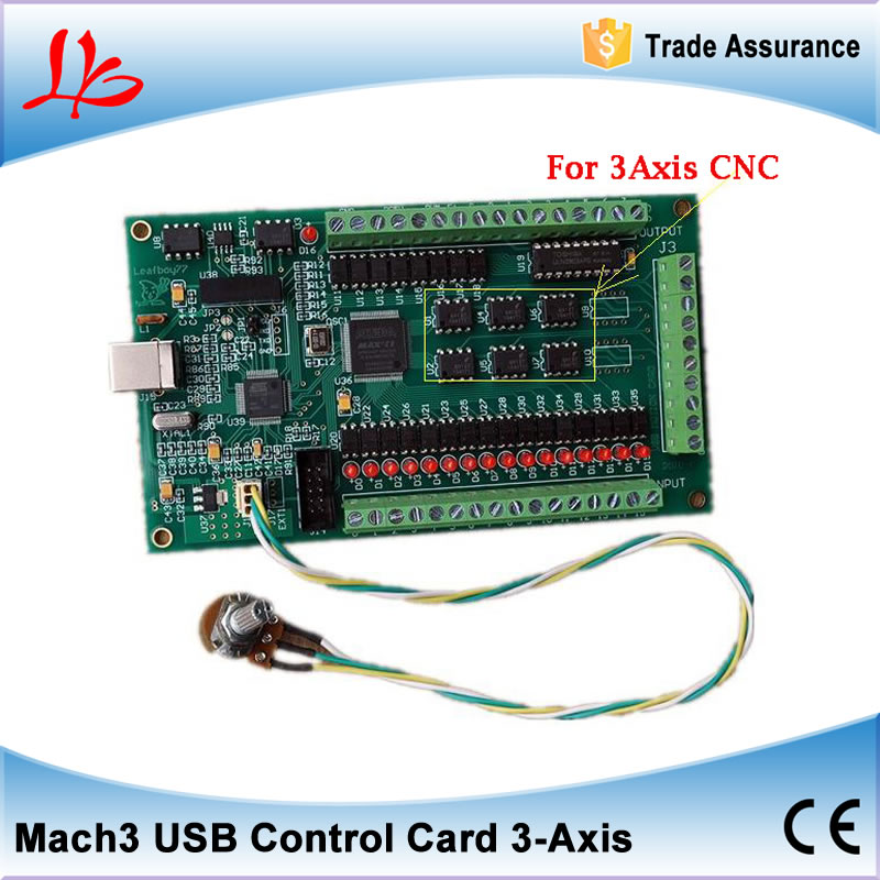 3 Axis USB Mach3 motion control card three axis breakout interface board for CNC Engraving Machine eco 400khz 3 axis mach3 motion control card usb cnc interface breakout board new